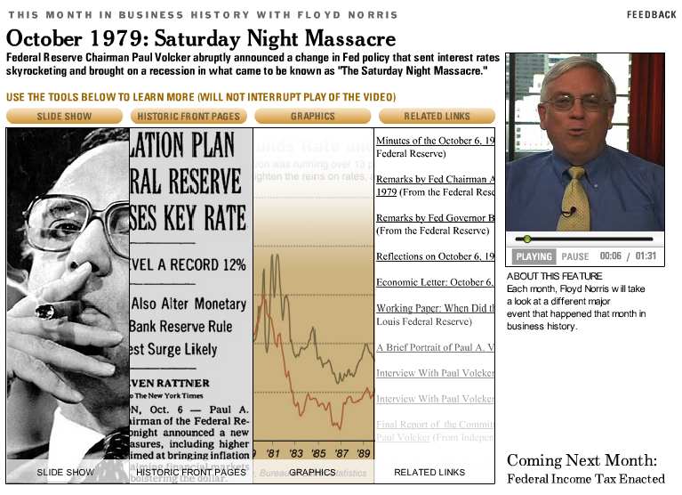 Paul Volcker and the Saturday Night Massacre | The Big Picture