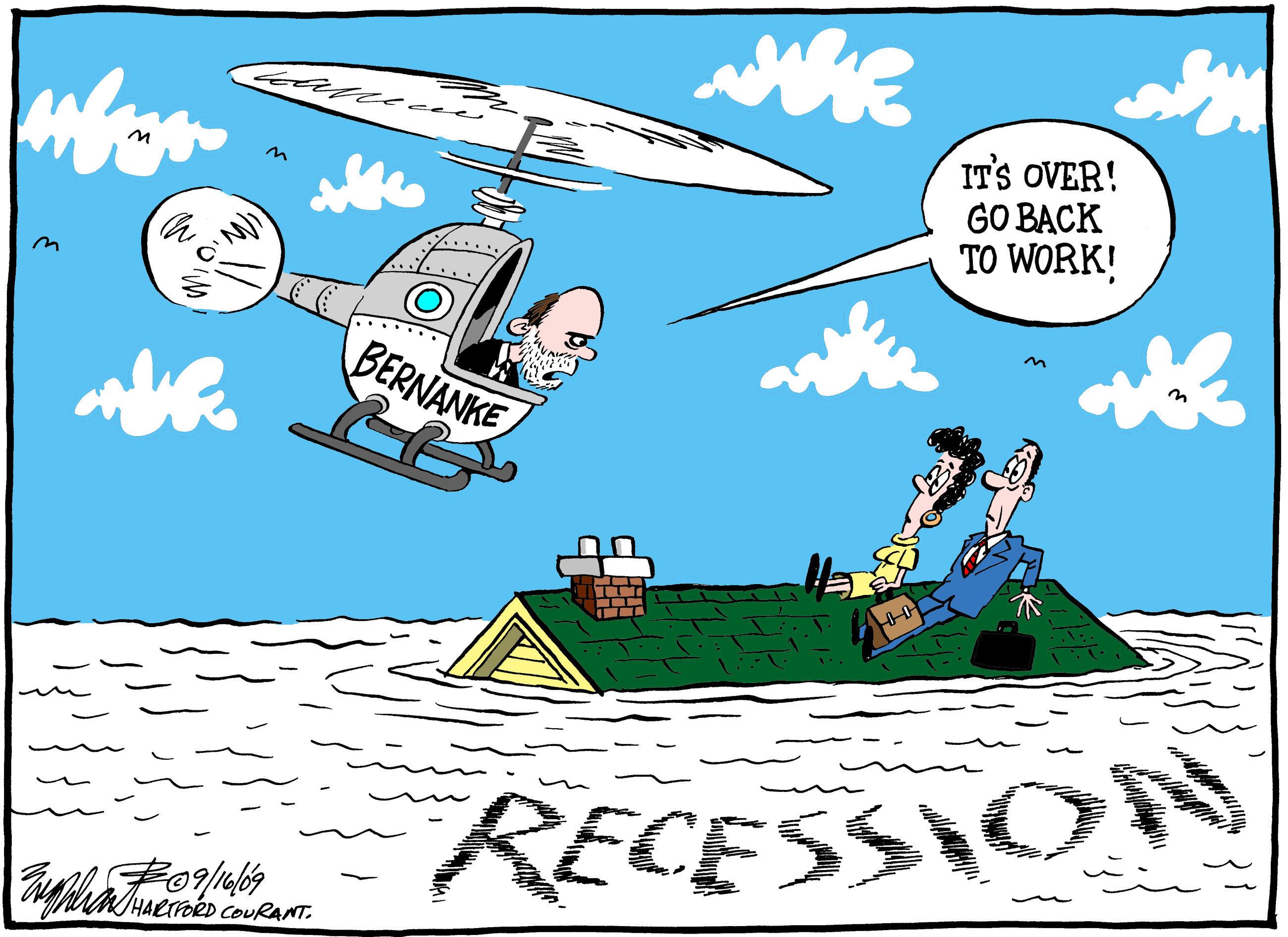La recessione è finita, andate in pace