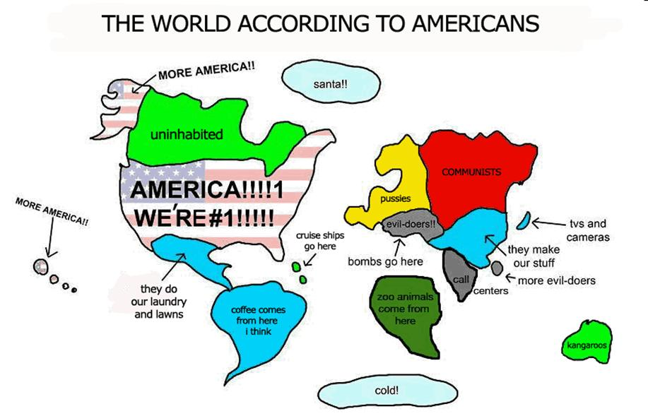 world accordign to USA