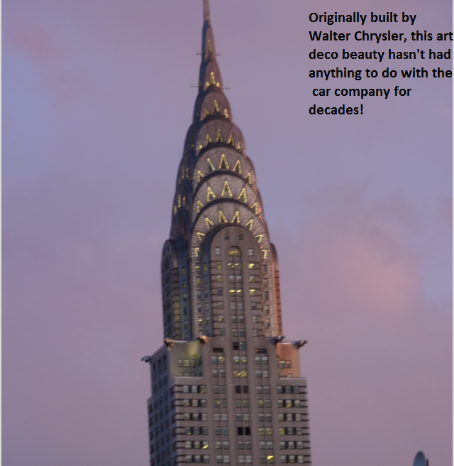 essay on the chrysler building The culture of chrysler essay the culture of chrysler essay 693 words aug 1st, 2013 3 pages  the chrysler building essay 2994 words | 12 pages.