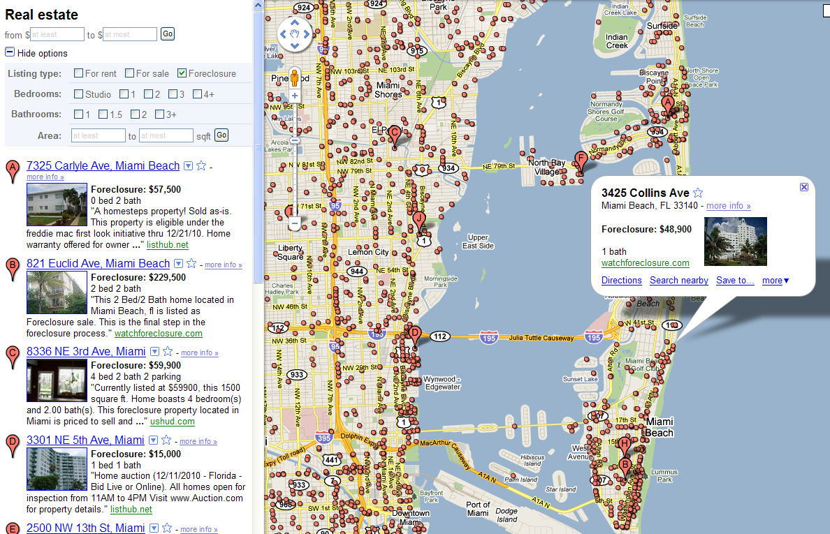 click for google map . google map foreclosure tricks  the big picture