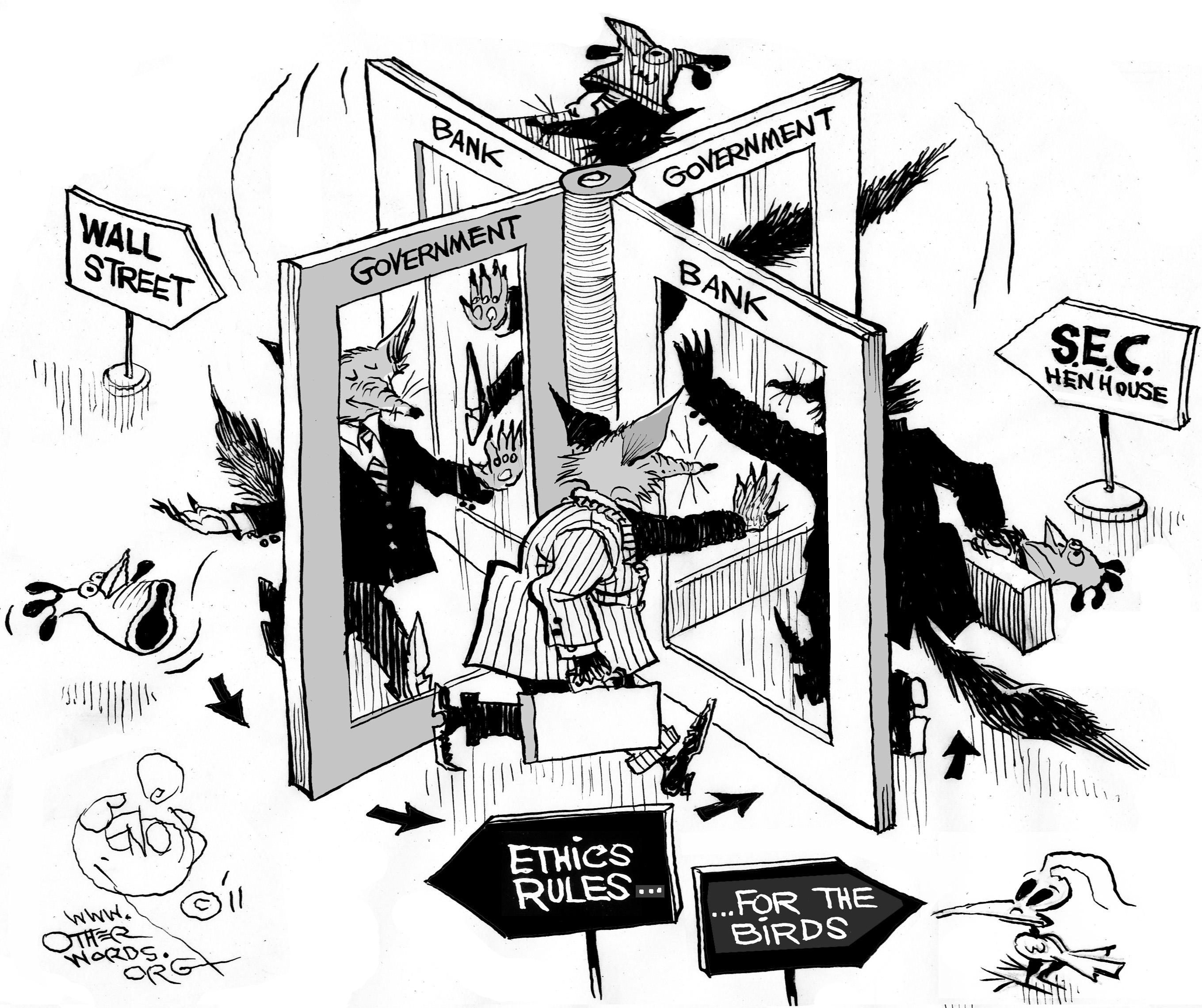 Collusion entre les hauts fonctionnaires et les banques