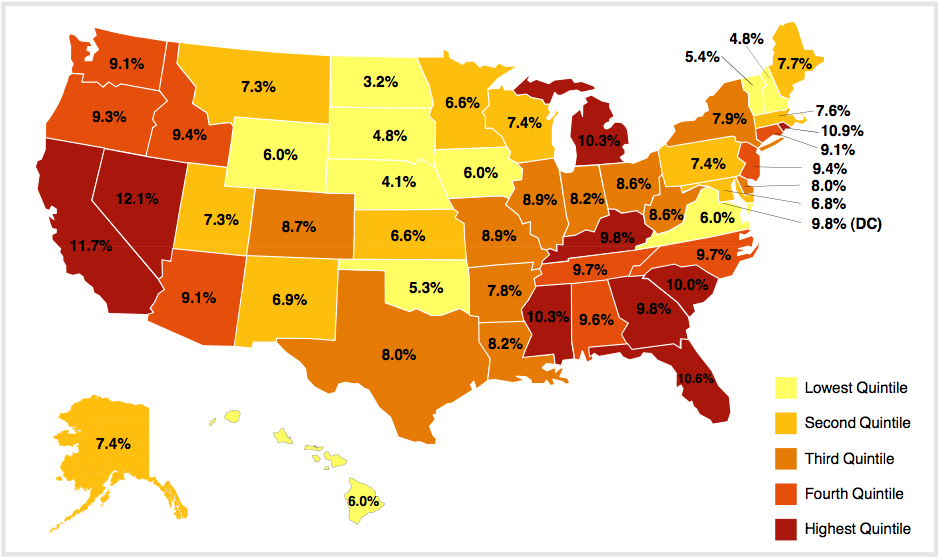 Unemployment Rates Across The US The Big Picture - Us unemployment rate map
