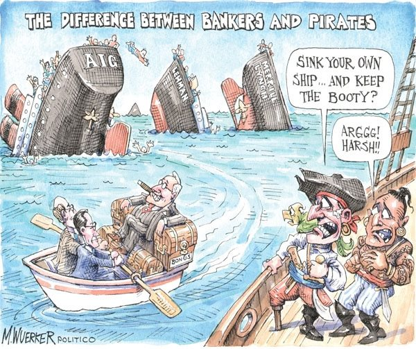 Image result for the difference between bankers and pirates