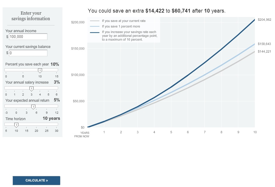 the 1 more savings calculator the big picture