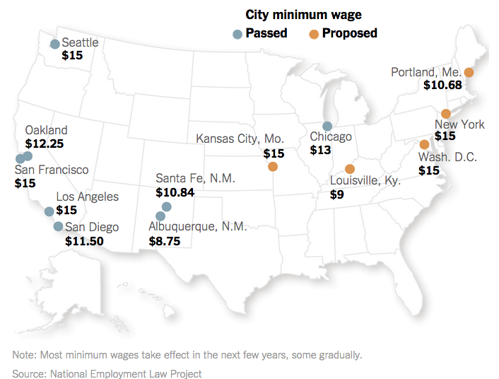 Minimum Wage by City | The Big Picture