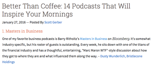 14 podcasts coffee