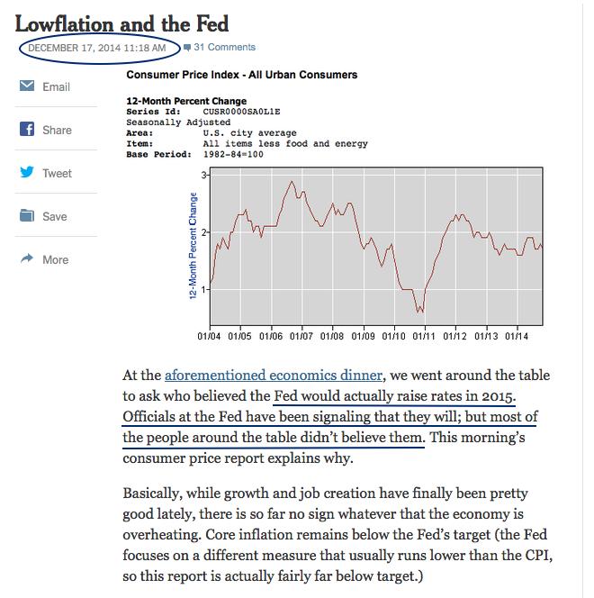 Krugman Dec 2014 on FOMC