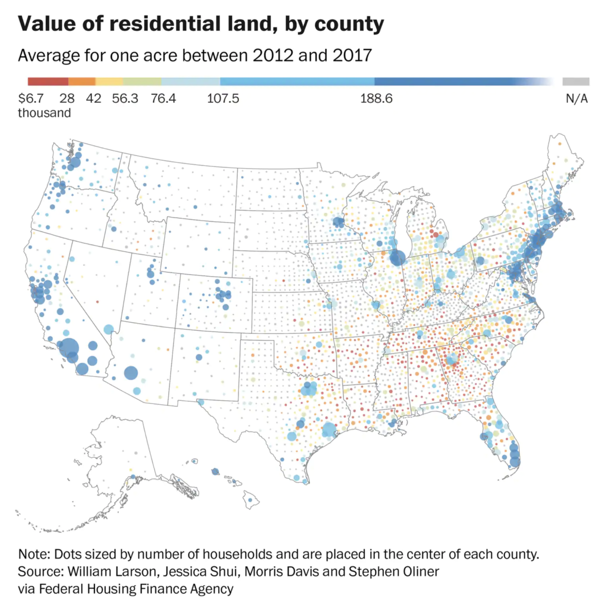 Value of U.S. Residential Land (by County) - The Big Picture