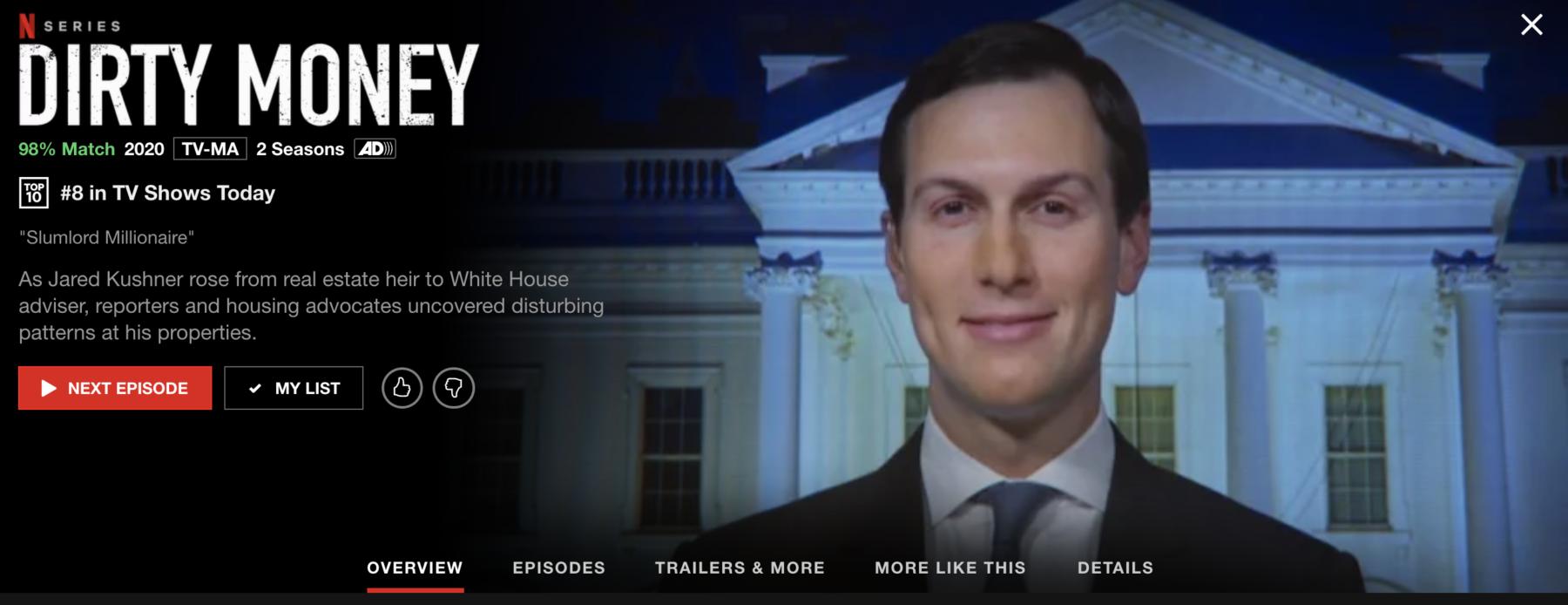 Dirty Money: Kushner Documentary On Netflix 2