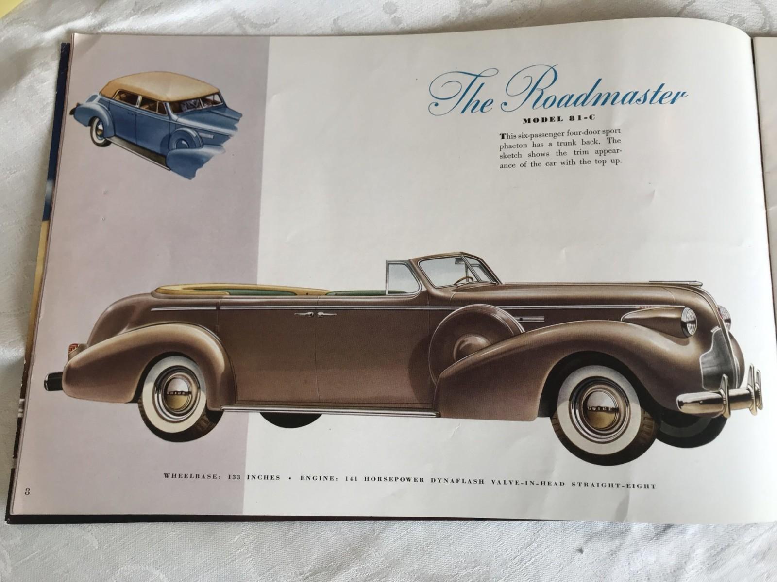 1939 Buick Roadmaster Phaeton Convertible 81-C 10