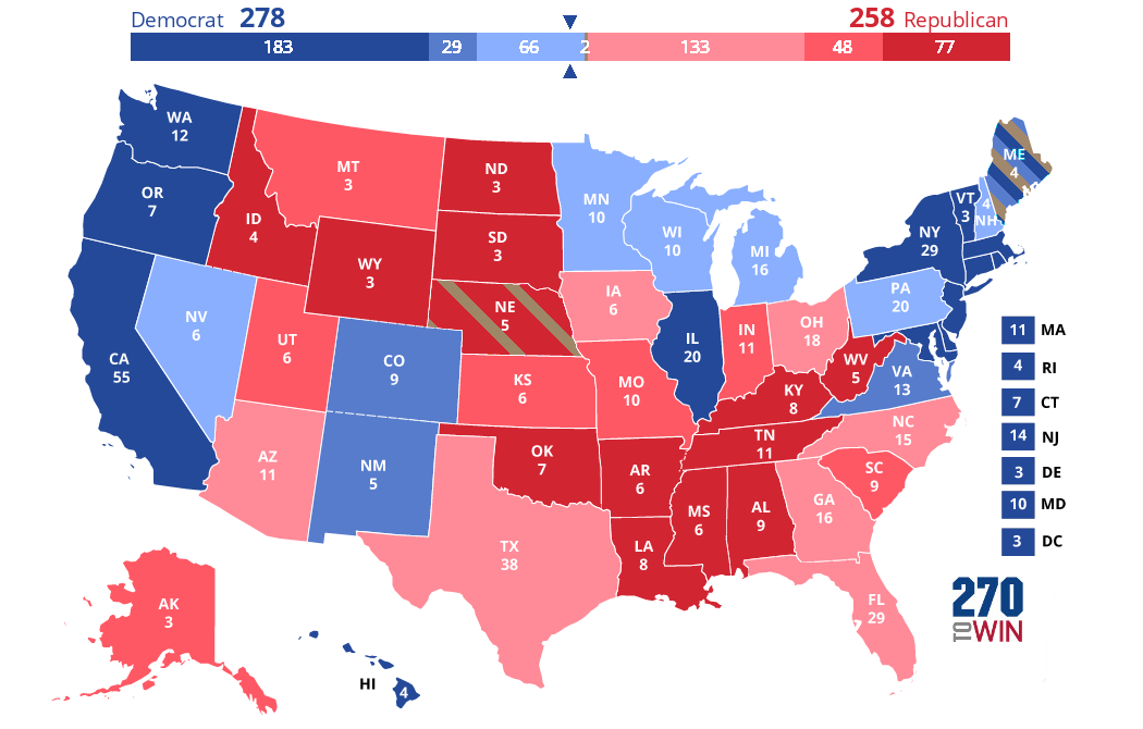 Us Election 2016 Interactive Map 2020 Presidential Election Interactive Map   The Big Picture