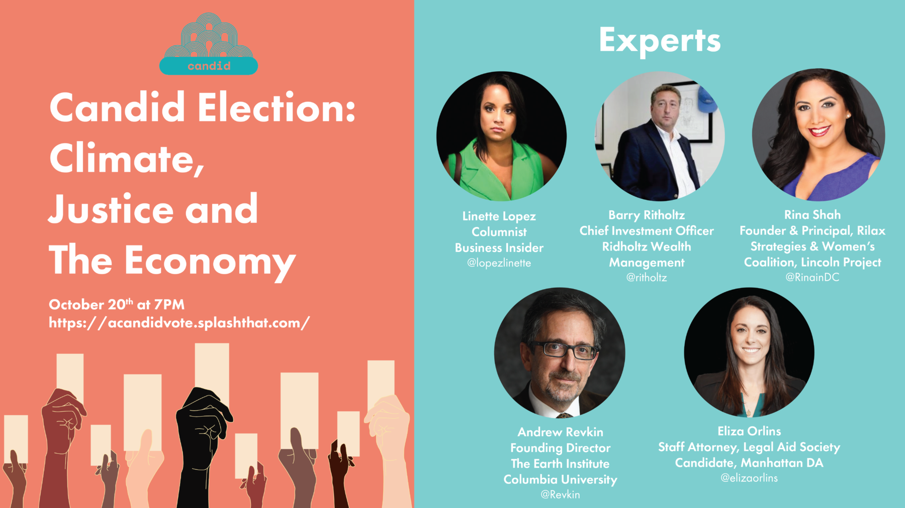 Tonight! Candid Election: Climate, Justice and The Economy 2